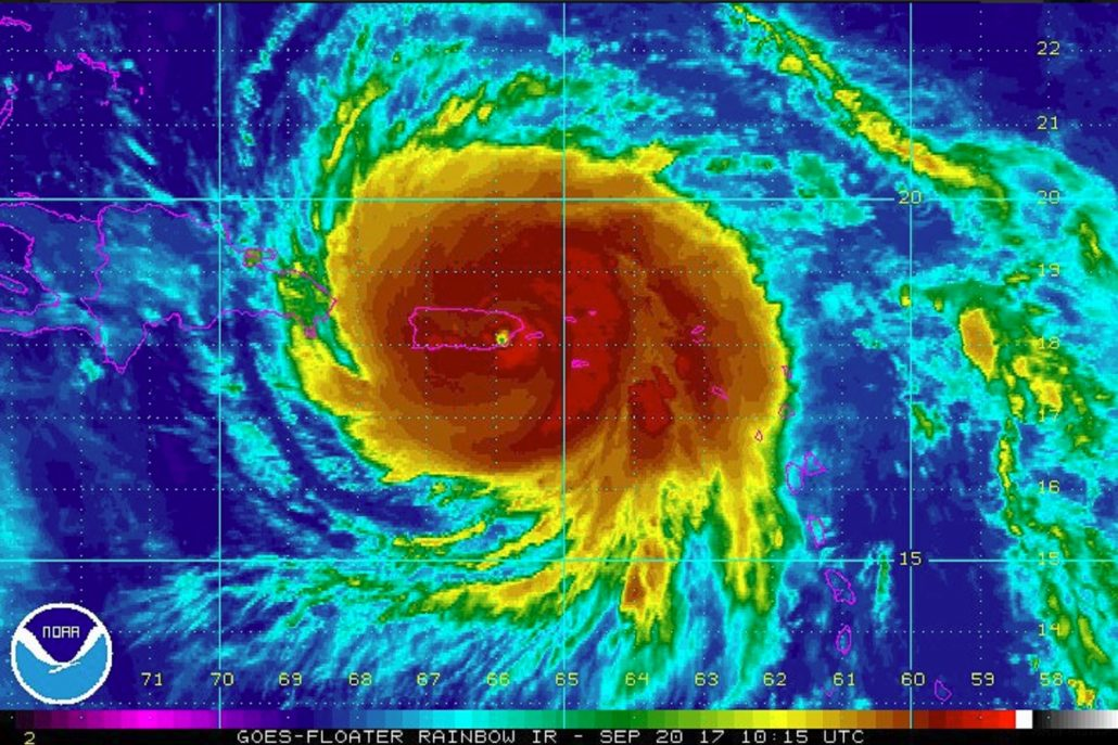 From the National Weather Service. Maria approaches Puerto Rico