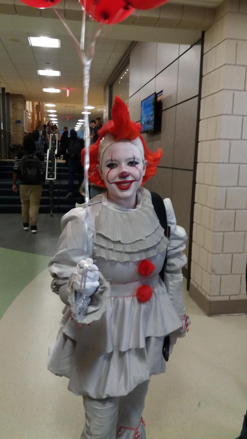Senior Cassidy Harty dressed up as Pennywise the Clown