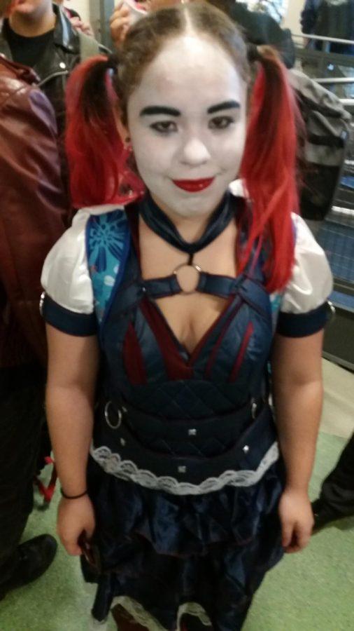 Senior Inaya Velez dressed up as DC villain Harley Quinn