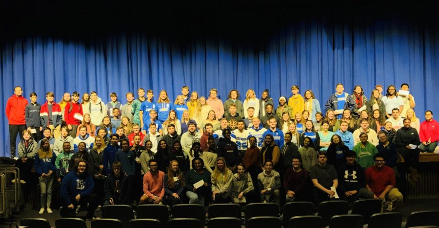 LHS+students+were+gathered+for+a+special+assembly+this+morning+to+learn+they+were+this+year%27s+recipients+of+the+Abigail+Adams+Scholarship+for+their+high+MCAS+scores.+