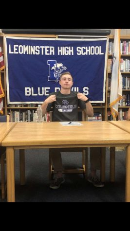Evan Faulandys on Signing Day.