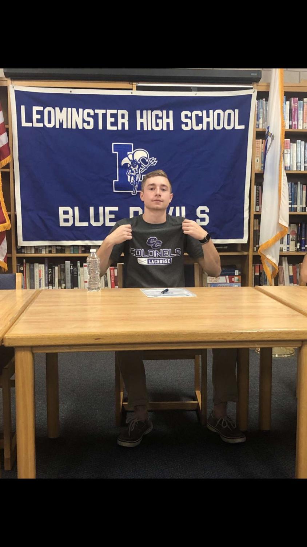 Evan Faulandys on Signing Day.